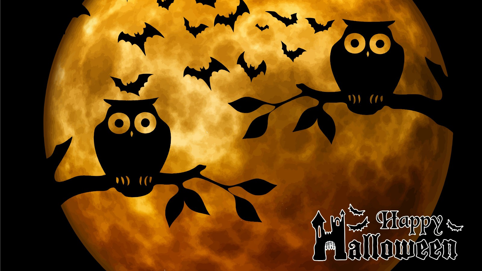 Happy Halloween | 1600x900. Tapeta, pozadí na plochu Windows