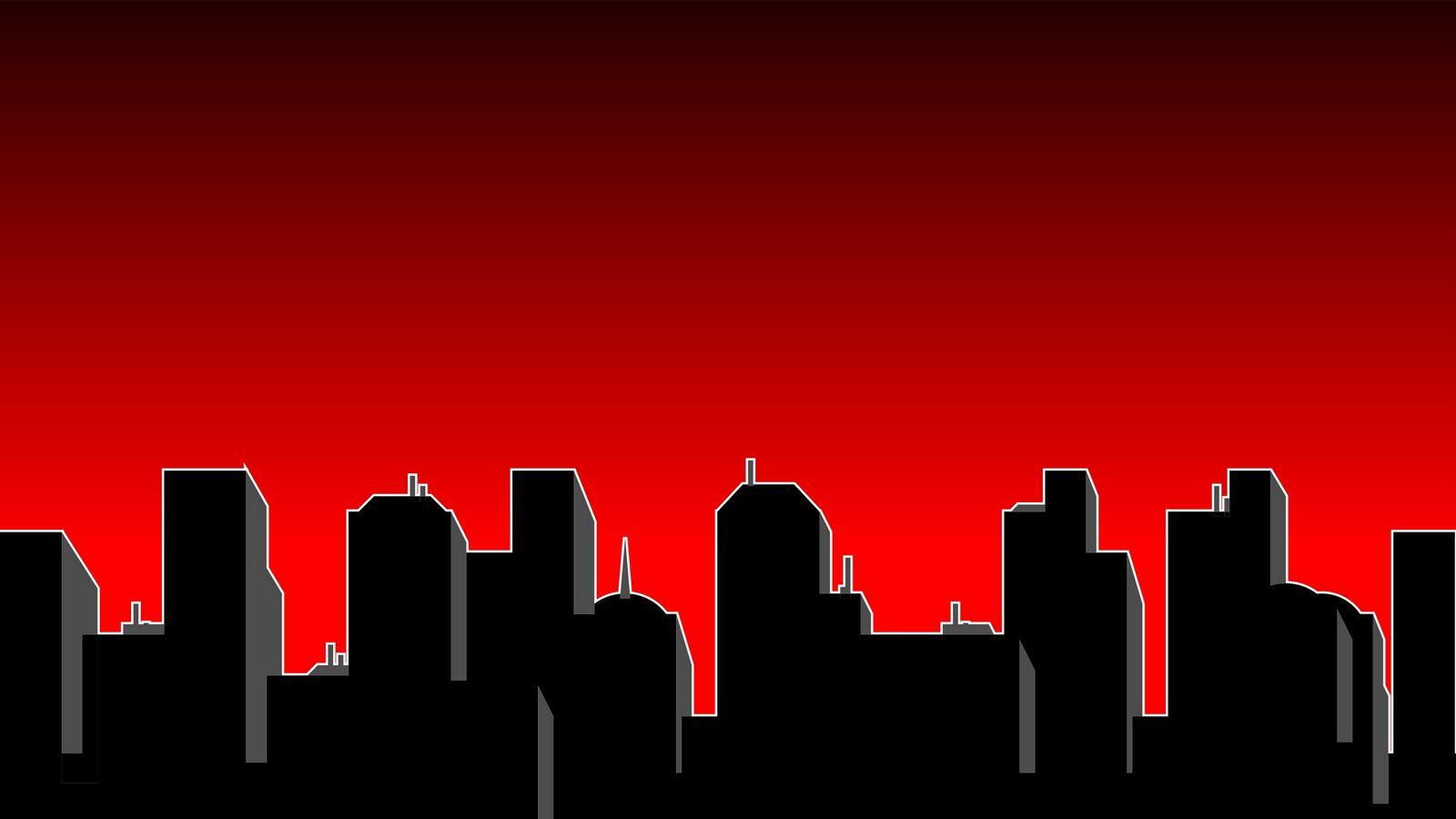 Noční město | 1600x900. Pozadí, obrázek, tapeta na plochu
