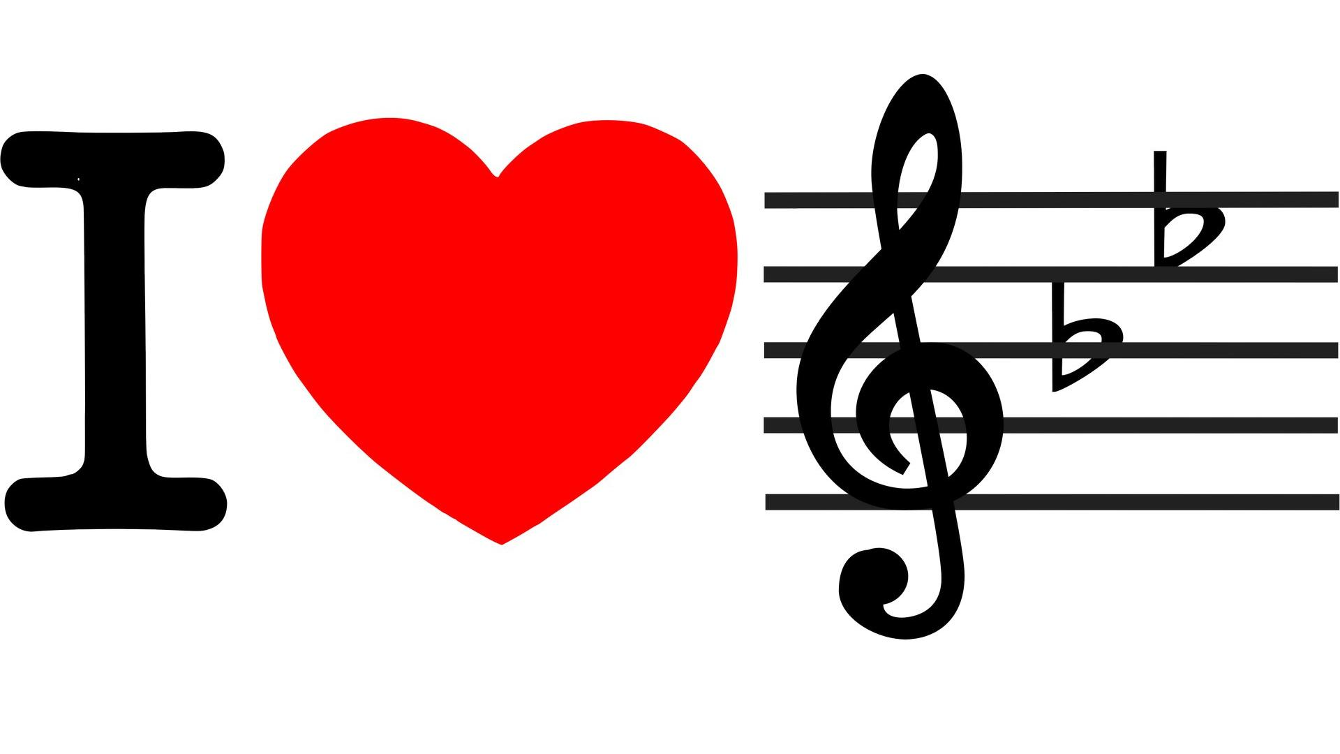 I love music 1920x1080. Tapeta, wallpaper, obrazek zdarma ke sta?eni