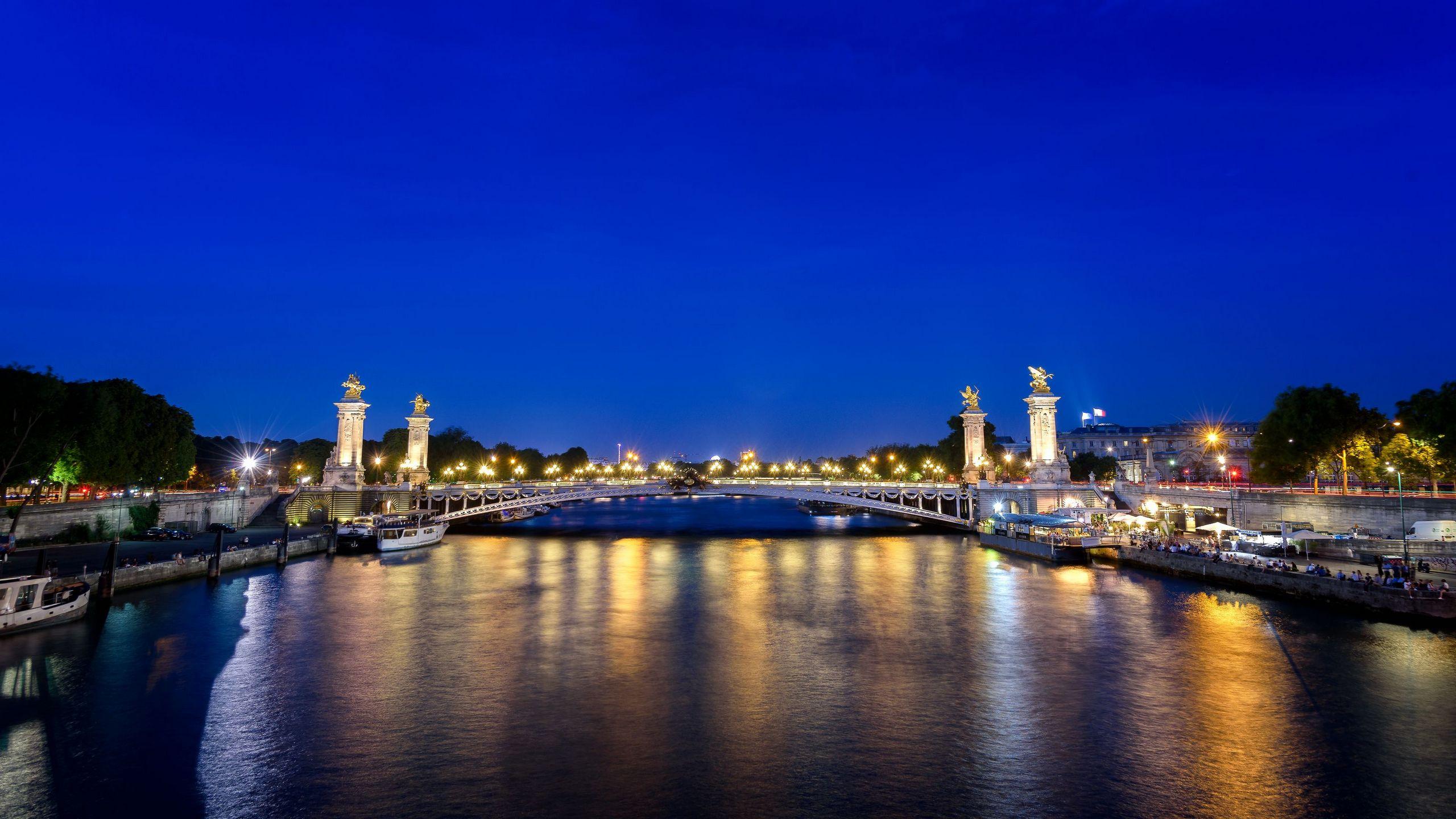 Paříž | 2560x1440. Pozadí, obrázek, tapeta na plochu
